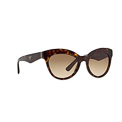 Prada - Brown PR23QS round sunglasses