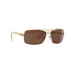 Prada - Gold rectangle '0PR55QS' sunglasses