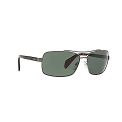 Prada - Grey rectangle '0PR55QS' sunglasses