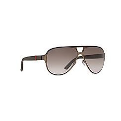 GUCCI - Brown aviator GG2252/S sunglasses