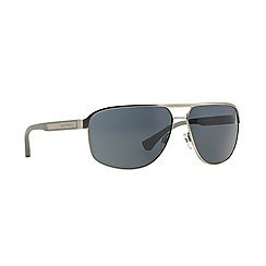 Emporio Armani - Silver rectangle EA2025 sunglasses