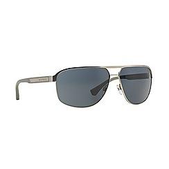Emporio Armani - Silver rectangle EA2025 sunglasses