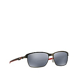 Oakley - Grey 'Tinfoil Carbon' OO6018 rectangle sunglasses