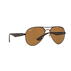 Ray-Ban - Brown pilot '0RB3523' sunglasses