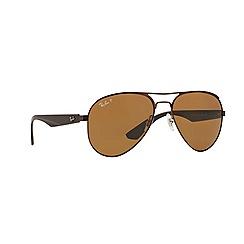 Ray-Ban - Brown pilot '0RB3523' sunglasses