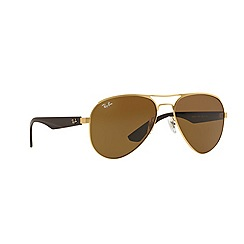 Ray-Ban - Gold pilot '0RB3523' sunglasses