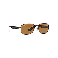Ray-Ban - Brown  aviator RB3524 sunglasses