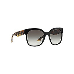 Prada - Black irregular PR 10RS sunglasses