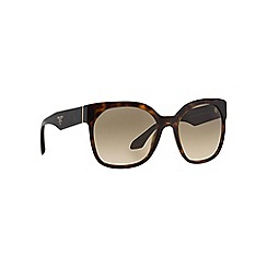 Prada - Brown irregular PR 10RS sunglasses