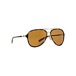 Oakley - Brown pilot 0OO4102 sunglasses