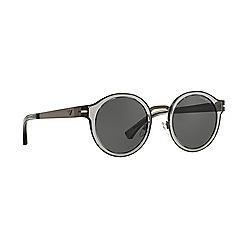 Emporio Armani - Gunmetal round EA2029 sunglasses