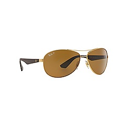 Ray-Ban - Gold  aviator RB3526 sunglasses