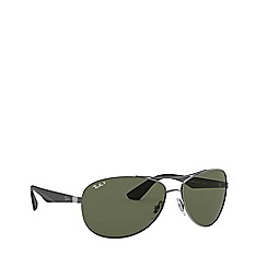 Ray-Ban - Gunmetal aviator RB3526 sunglasses