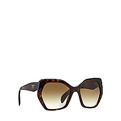Prada - Brown irregular PR 16RS sunglasses