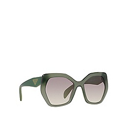 Prada - Green irregular PR 16RS sunglasses