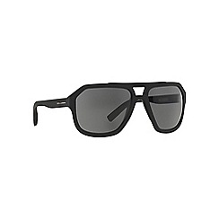 Dolce & Gabbana - Black rectangle DG2146 sunglasses