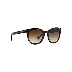 Dolce & Gabbana - Brown DG4249 round sunglasses