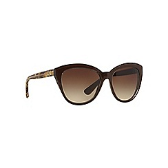 Dolce & Gabbana - Brown oversize DG4250 sunglasses