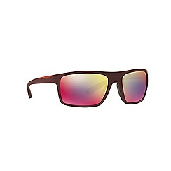 Prada Linea Rossa - Bordeaux rectangle PS 02QS sunglasses