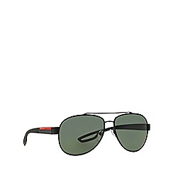 Prada Linea Rossa - Black aviator PS 55QS sunglasses