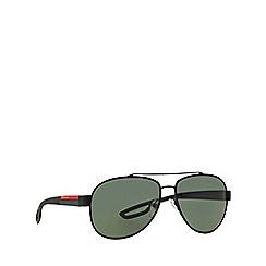 Prada Linea Rossa - Black aviator PS 55QS sunglasses