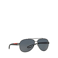 Prada Linea Rossa - Gunmetal aviator PS 55QS sunglasses