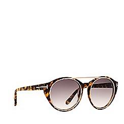 Tom Ford - Tortoiseshell FT0383 rectangle sunglasses