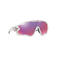 Oakley - Shiny white 'Jawbreaker' OO9290 rectangle sunglasses