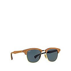 Ray-Ban - Brown 'Clubmaster Wood' RB3016M sunglasses