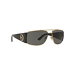 Versace - Gold rectangle VE2163 sunglasses