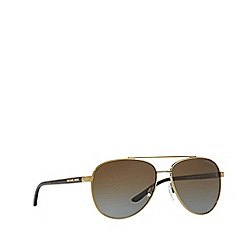 Michael Kors - Gold Tortoiseshell 'Hvar' pilot MK5007 sunglasses