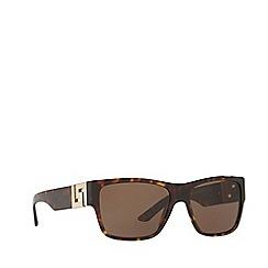 Versace - Havana square male sunglasses