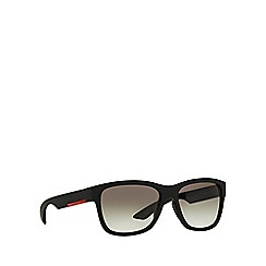 Prada Linea Rossa - Black rectangle PS 03QS sunglasses