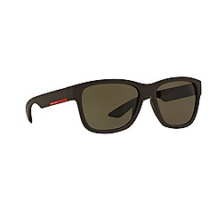 Prada Linea Rossa - Brown rectangle PS 03QS sunglasses