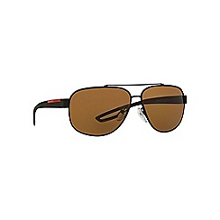 Prada Linea Rossa - Black PS58QS rectangle sunglasses