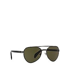 Prada - Gunmetal pilot PR 55RS sunglasses