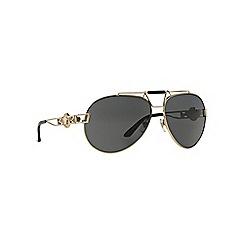 Versace - Gold VE2160 pilot sunglasses