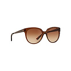 DKNY - Brown DY4128 round sunglasses