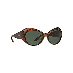 Ralph Lauren - Brown RL8139 irregular sunglasses