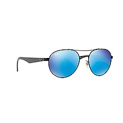 Ray-Ban - Black round 'RB3536' sunglasses