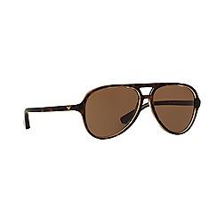 Emporio Armani - Brown aviator EA4063 sunglasses