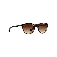 Emporio Armani - Brown EA4061 round sunglasses