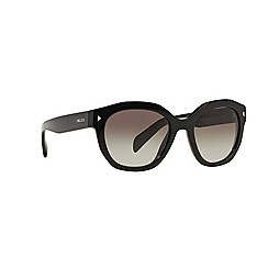 Prada - Black irregular PR 12SS sunglasses