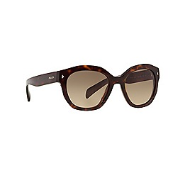 Prada - Brown irregular PR 12SS sunglasses