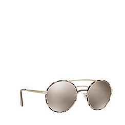 Prada - Tortoise round frame sunglasses