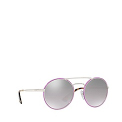 Prada - Pink PR 51SS round sunglasses