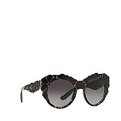 Dolce & Gabbana - Black round DG4267 sunglasses