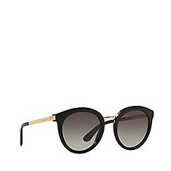 Dolce & Gabbana - Black DG4268 round sunglasses