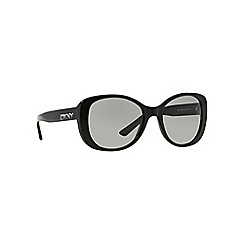 DKNY - Black DY4136 rectangle sunglasses