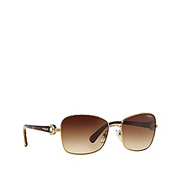 Vogue - Pale gold 'Vogue' butterfly sunglasses